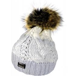 Zimní pletená vlněná čepice tříbarevná 1