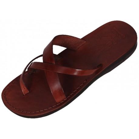 Kožené pantofle Sahure