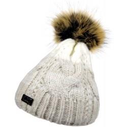 Zimní pletená vlněná čepice tříbarevná 2