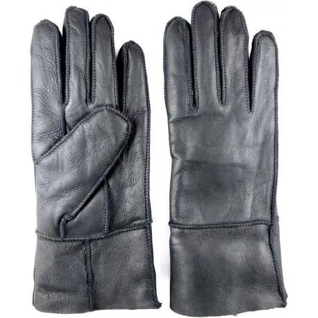 Winter Damen Lederhandschuhe schwarz