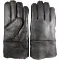 Winter men's leather gloves black 1