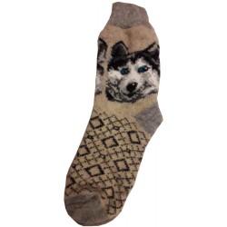 Vlnené ponožky motív psa 2