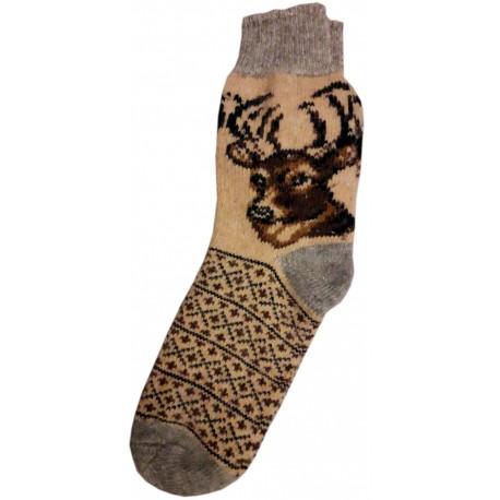 Vlnené ponožky motív jeleňa 3
