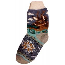 Vlněné ponožky motiv jelena 4