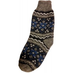 Vlněné ponožky motiv vločka 13
