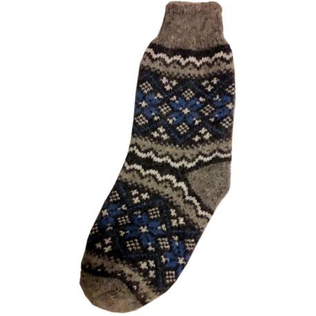 Vlnené ponožky motív vločka 13