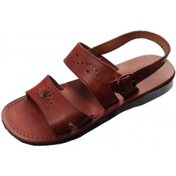 Unisex Leather Sandals Ramesses without Wedge
