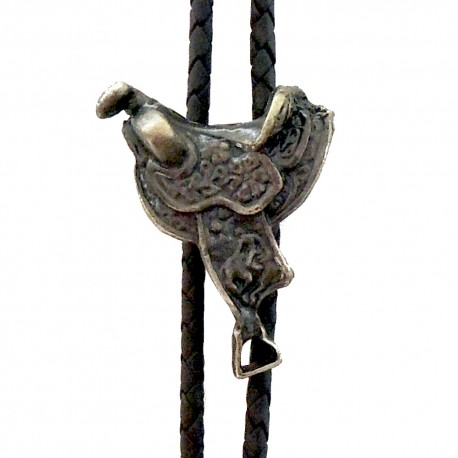 Western Cowboy Tie Horse saddle, brass color