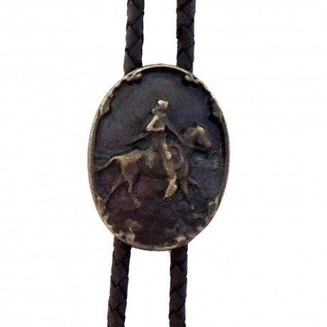 Westernová kovbojská kravata bolo Jazdec, mosadzná farba