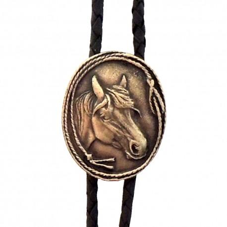 Western Cowboy Tie Horse 3, brass color