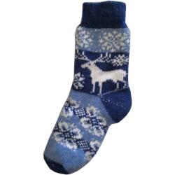 Vlnené ponožky motív jeleňov