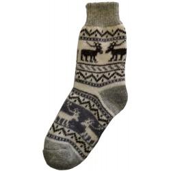 Vlněné ponožky motiv soby