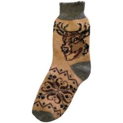 Vlněné ponožky motiv jelena 5