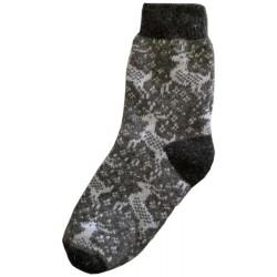 Vlnené ponožky motív jelene