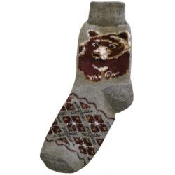 Vlnené ponožky motív medveď