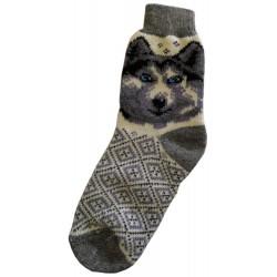 Woolen socks motif dog 5