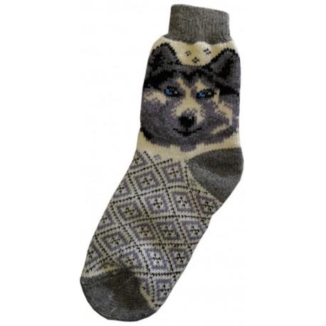 Vlněné ponožky motiv pes 5