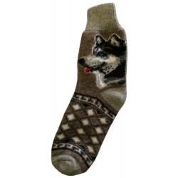 Vlněné ponožky motiv pes 7