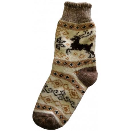 Vlněné ponožky motiv  jelen