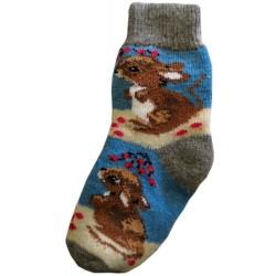 Vlněné ponožky motiv myš