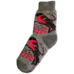 Vlněné ponožky motiv ptáků 2