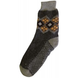 Vlněné ponožky motiv žluté čtverce