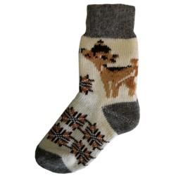 Vlněné ponožky motiv koloušek