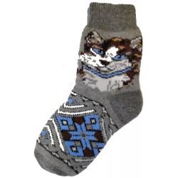Vlněné ponožky motiv kočička