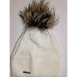Winter Strickmütze weiß 1