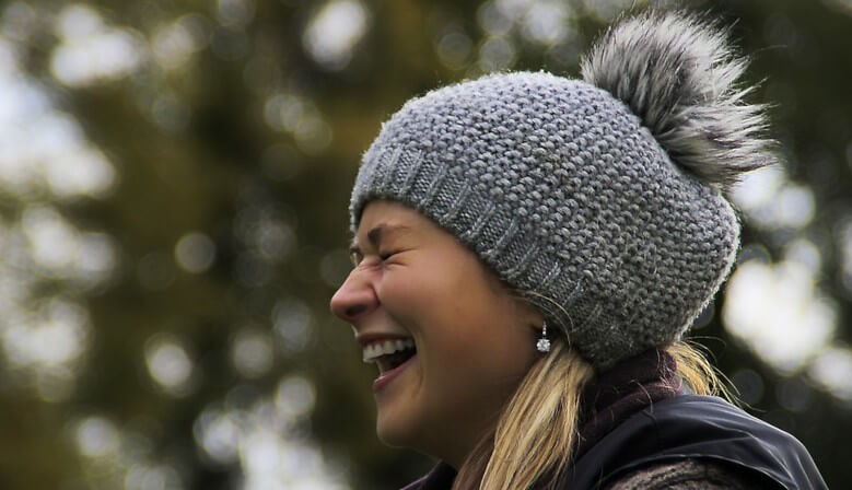 Winter knitted woolen cap