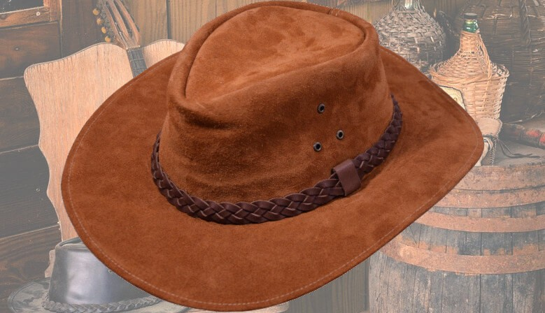 Real western leather hats