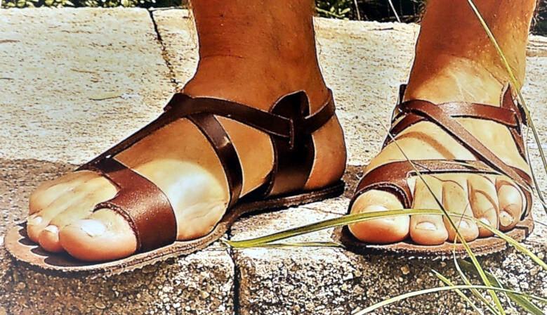 Kožené barefoot sandály