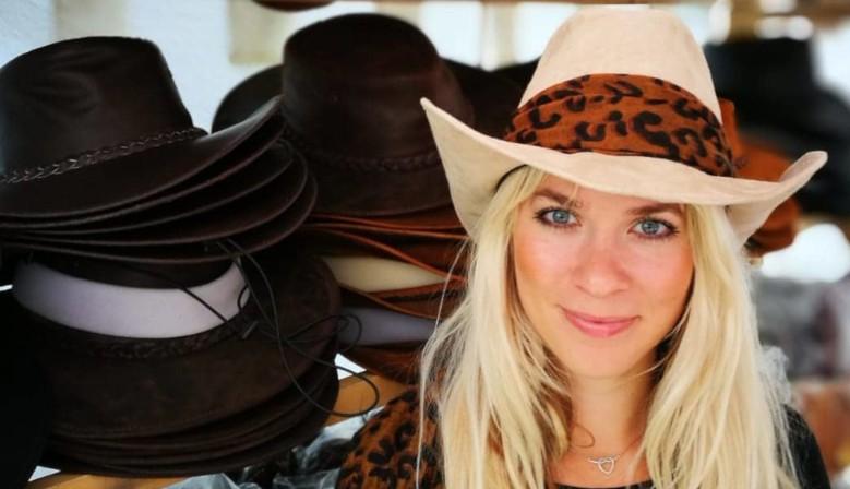 Pravé westernové kožené klobouky
