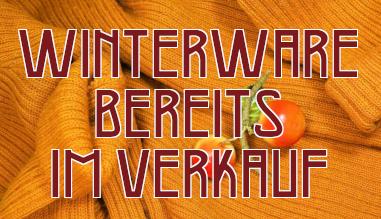 Winterware bereits im Verkauf